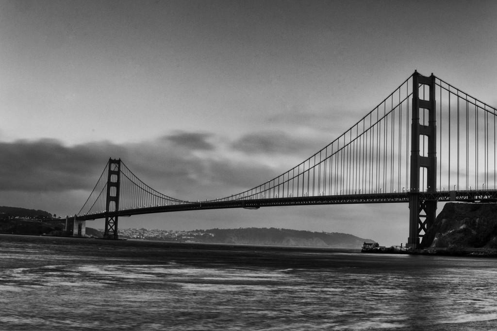 Golden Gate po zachodzie słońca